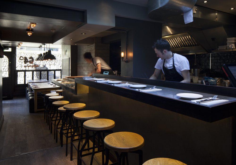 64 Degrees restaurant interiors